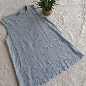 FLAX gray linen tunic top